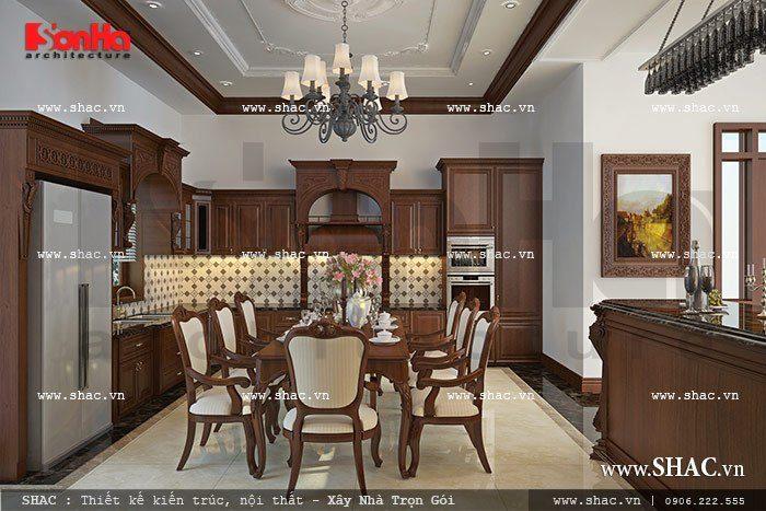 Phương án thiết kế nội thất phòng bếp kiểu Pháp đẹp với cách bày trí khoa học