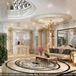 Phòng khách được thiết kế kiểu pháp đẹp