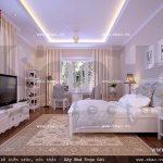 Phòng ngủ phong cách pháp thoáng đãng