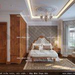 Phòng ngủ 3 với nội thất kiểu pháp đẹp