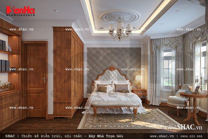 Thêm một mẫu thiết kế phòng khách mang đậm phong cách Châu Âu của biệt thự cổ điển mà KTS Sơn Hà mang đến