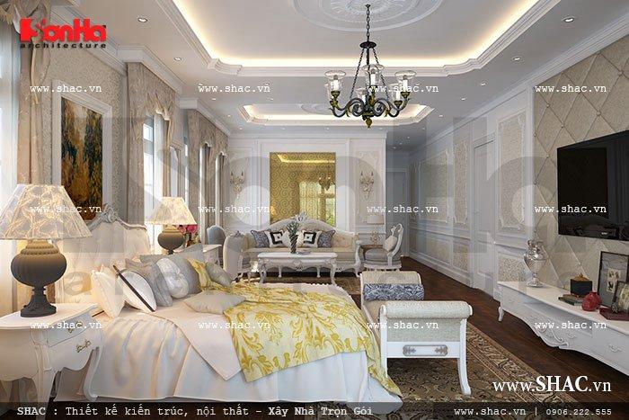 Một không gian nghỉ ngơi đáng mơ ước với thiết kế nội thất mang đậm phong cách cổ điển Pháp