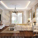 Phòng ngủ lãng mạn và ấm cúng của biệt thự pháp