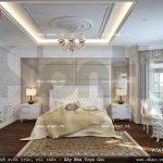 Phòng ngủ phong cách pháp lãng mạn