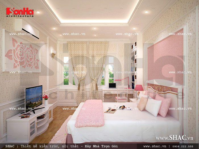 Phòng ngủ xinh xắn cho con gái
