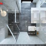 Thiết kế nhà phố lệch tầng mặt tiền 5m - SH NOD 0108 3