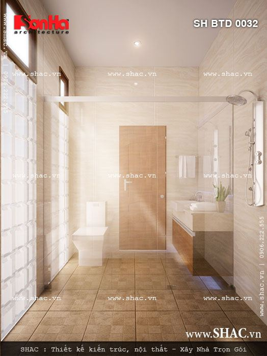 Phòng wc thông thoáng