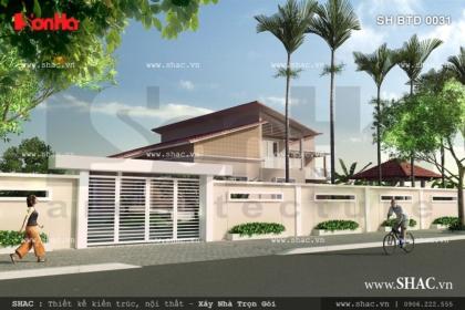 Thiết kế biệt thự sân vườn 2 tầng rộng 300m2