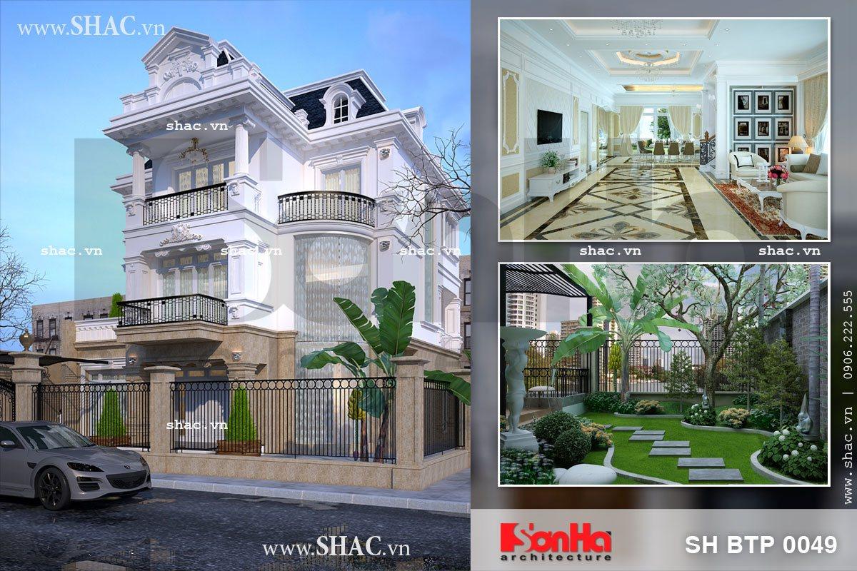 Thiết kế cải tạo biệt thự 3 tầng kiến trúc pháp