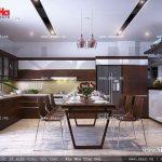 Thiết kế không gian bếp ấm cúng và tiện nghi