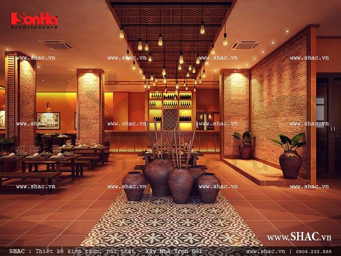 Thiết kế khu sảnh chính của nhà hàng đẹp