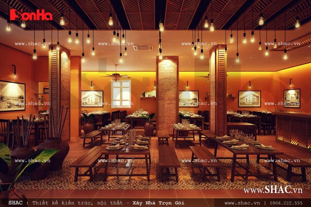 Thiết kế nhà hàng ăn đẹp và sang trọn