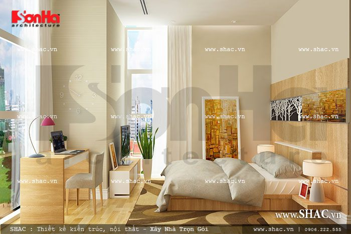 Thiết kế phòng ngủ chung cư thoáng đãng