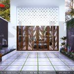 Thiết kế sân trước cửa nhà