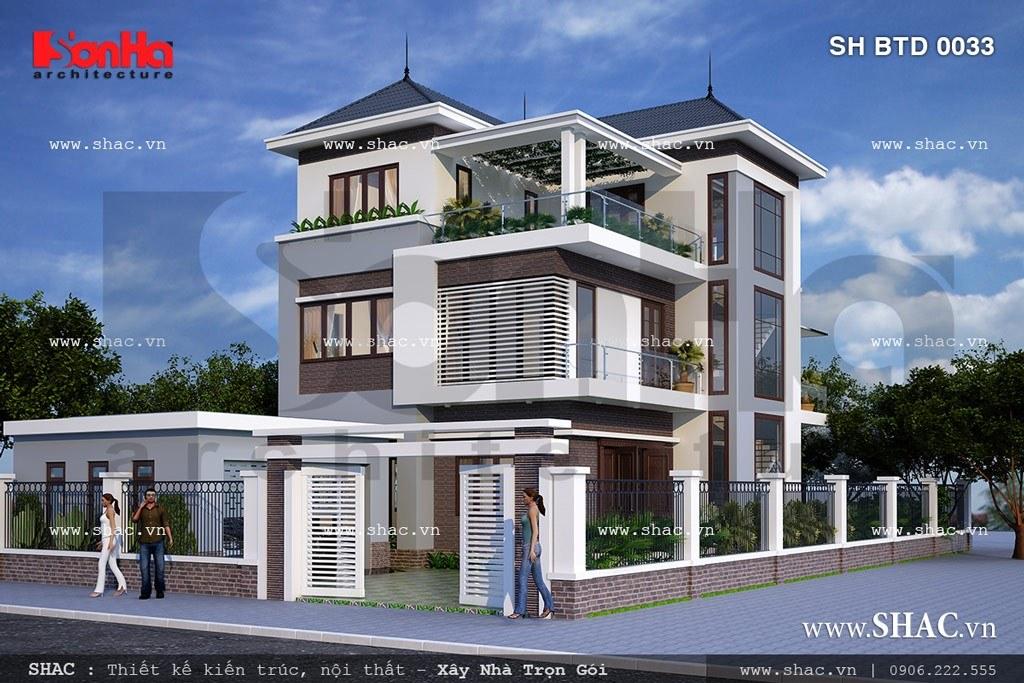 Biệt thự hiện đại 3 tầng sh btd 0033