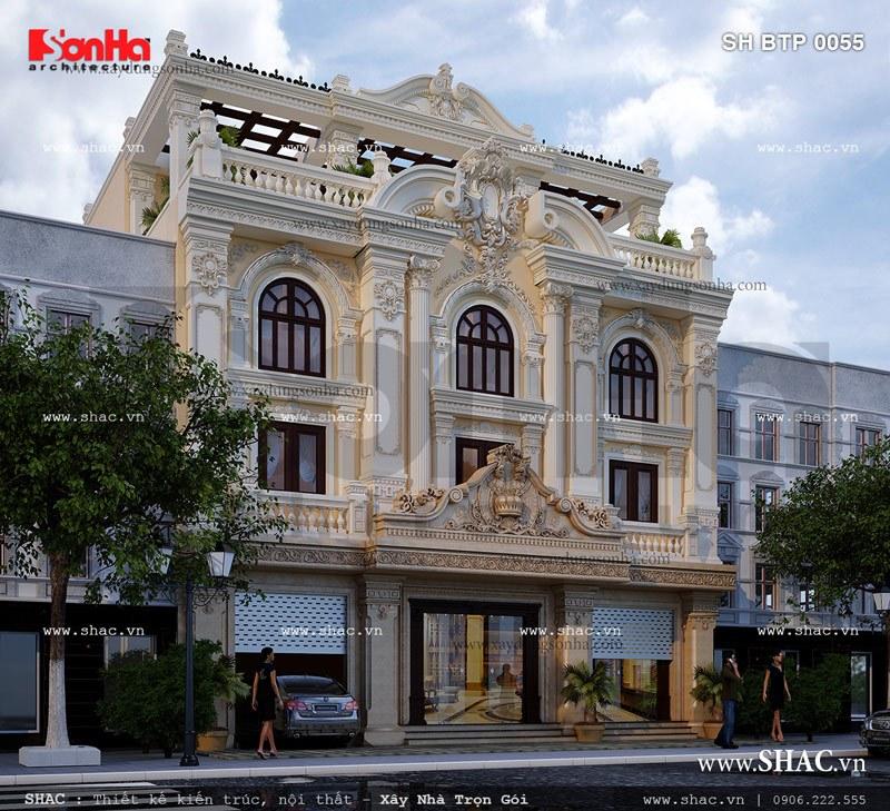 Biệt thự kiến trúc pháp cổ điển sh btp 0055