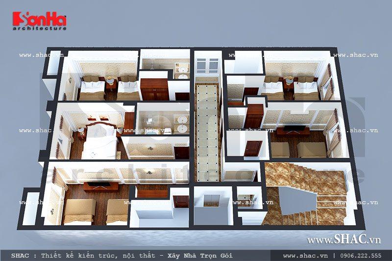 Bố trí phòng ngủ hợp lý cho khách sạn sh ks 0020