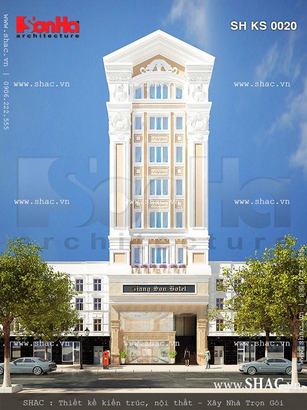Mẫu khách sạn 3 sao cao 9 tầng đẹp sh ks 0020