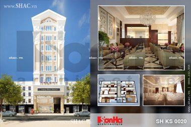 Mẫu khách sạn đẹp tiêu chuẩn 3 sao sh ks 0020