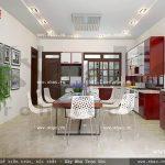 Phòng ăn đem lại cảm giác vui vẻ và ấm cúng sh btp 0057