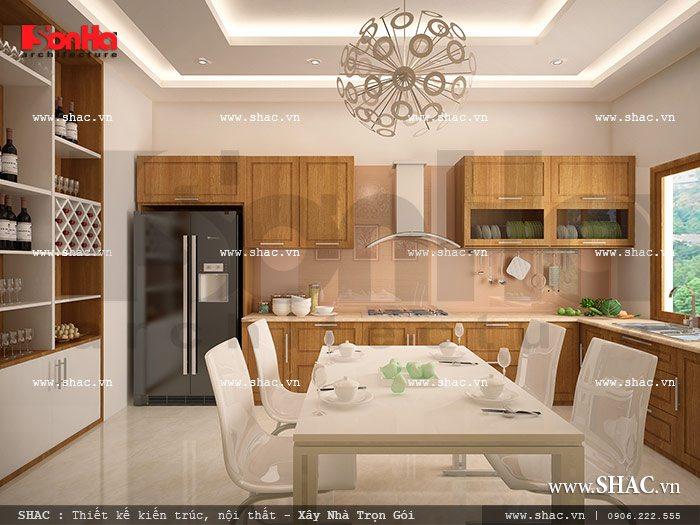 Phòng bếp ăn đơn giản sh nod 0110