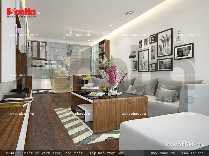Phòng khách đẹp với thiết kế hiện đại sh nod 0112