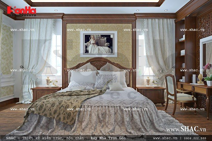 Mẫu thiết kế nội thất phòng ngủ sang trọng mang tới không gian sinh hoạt lý tưởng cho gia chủ
