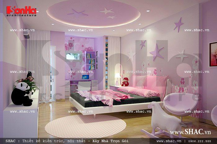 Thiết kế nội thất phòng ngủ cho con gái sh nod 0113