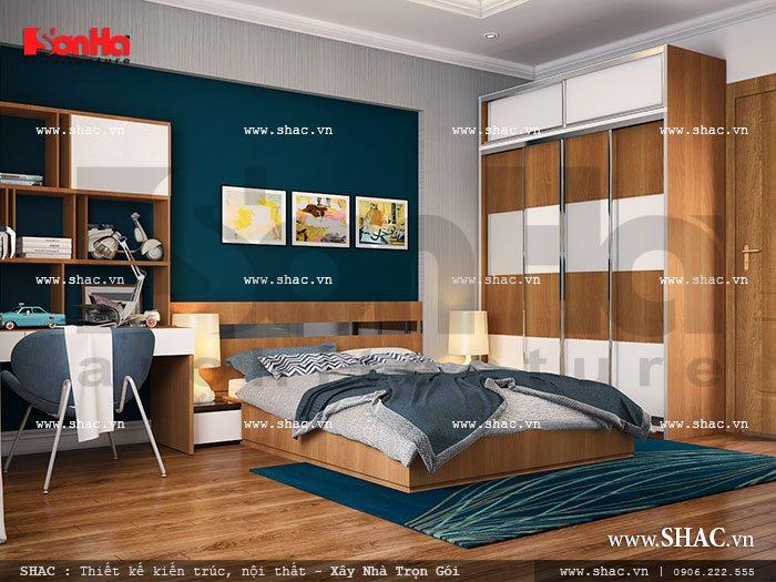 Phòng ngủ trẻ trung hiện đại cho con trai sh nop 0070