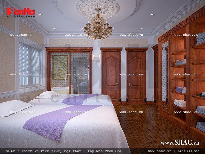 Bên cạnh các phòng chức năng chính, khu spa và massage được thiết kế ưu ái ở một phòng riêng biệt dành cho việc thư giãn của gia chủ