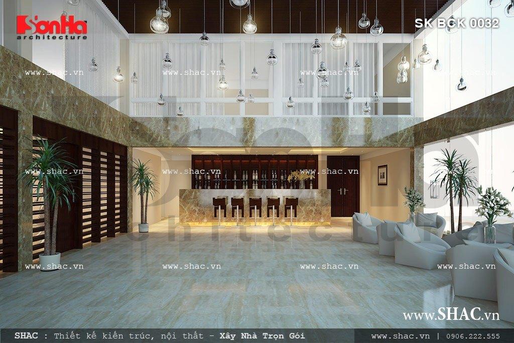 Quầy lễ tân và sảnh chờ của khách sạn sh bck 0032