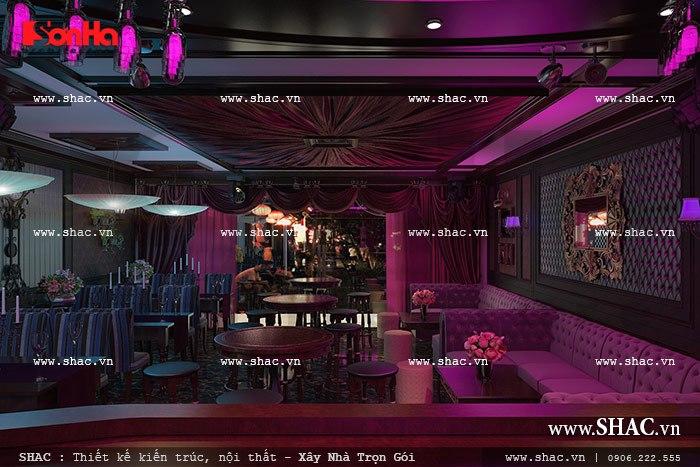 thiết kế quầy bar cafe của khách sạn sh ks 0020