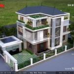 Biệt thự 3 tầng diện tích 375m2 sh btd 0033
