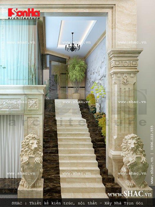 thiết kế cầu thang khách sạn đẹp sh ks 0020