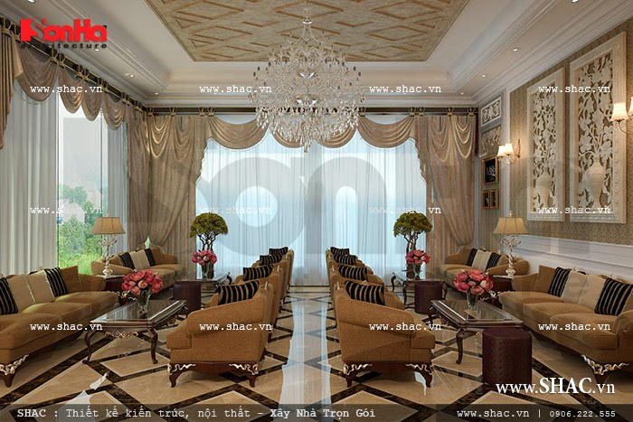 Thiết kế phòng khách chờ khách sạn sh ks 0020