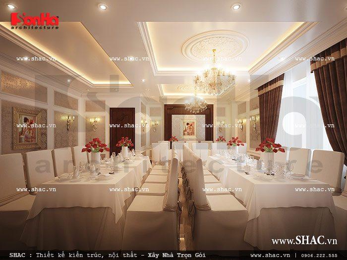 Thiết kế phòng ăn của khách sạn sh ks 0020
