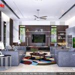 Thiết kế phòng khách đẹp sh btd 0033