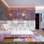 Trang trí phòng ngủ cho con gái sh btd 0033