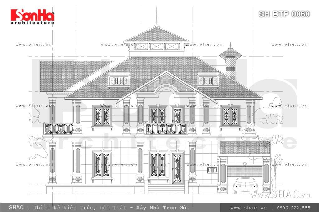 Biệt thự hai mặt tiền kiến trúc pháp đẹp SH BTP 0060 3