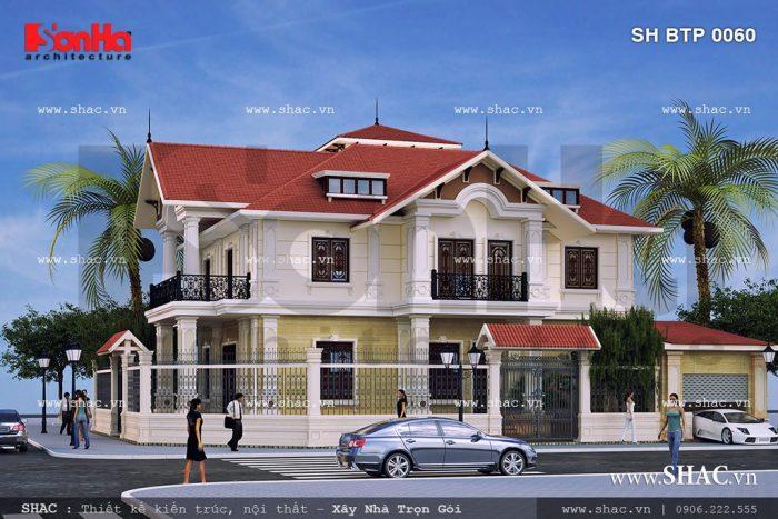 Biệt thự 2 tầng kiểu pháp đẹp sh btp 0060