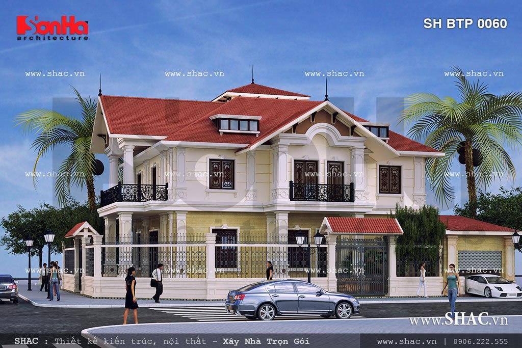 Biệt thự hai mặt tiền kiến trúc pháp đẹp SH BTP 0060 2