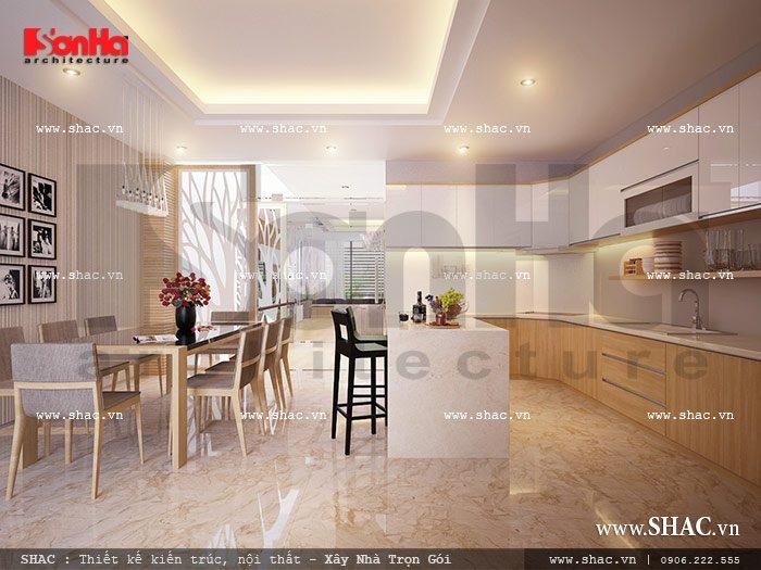 Không gian bếp ăn đơn giản sh nod 0114