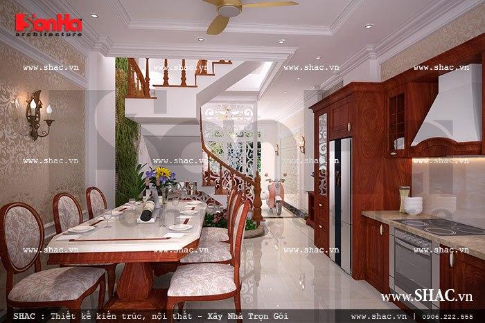 Không gian bếp ăn sang trọng và ấm cúng sh nop 0075