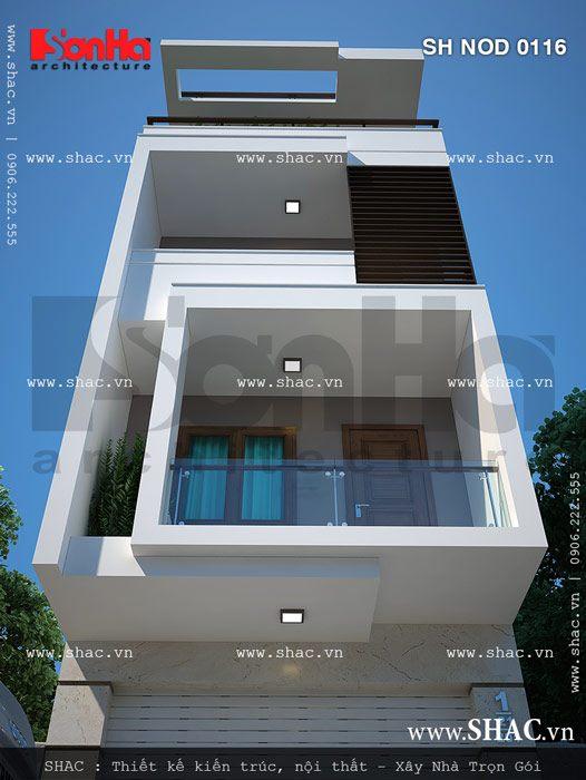 Kiến trúc nhà ống hiện đại sh nod 0116