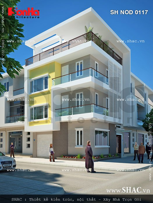 Kiểu nhà phố hiện đại bán biệt thự đẹp sh nod 0117