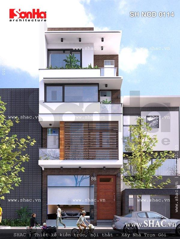 Mặt tiền nhà phố đẹp kiến trúc hiện đại sh nod 0114