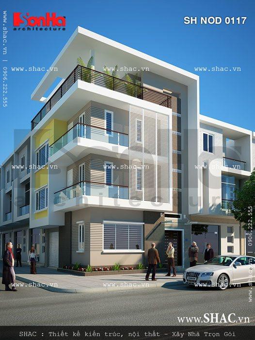 kiến trúc nhà đẹp hai mặt tiền hiện đại