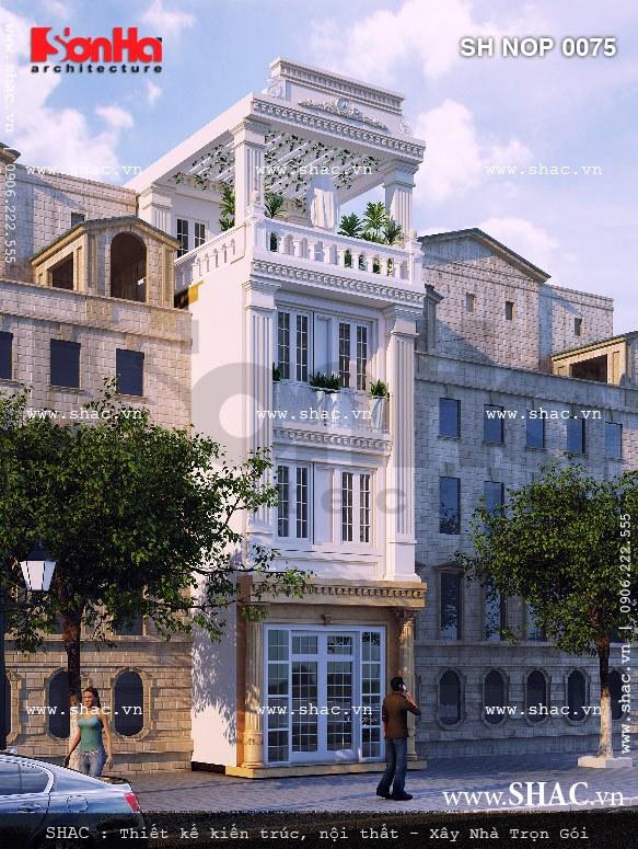 Nhà phố 4 tầng kiểu pháp đẹp sh nop 0075
