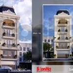 Nhà phố kiến trúc pháp mặt tiền 8m sh nop 0074