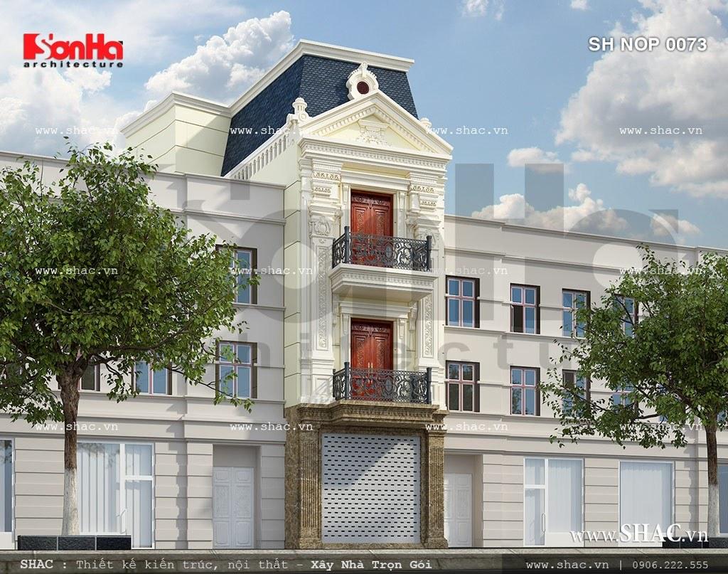 Nhà phố kiến trúc pháp nhẹ nhàng sh nop 0073